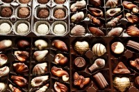 Chocolate health benefits include lowering blood pressure and lowering blood sugar.